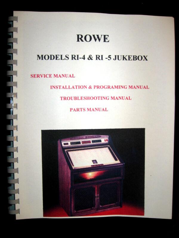 ROWE RI-4 & RI-5 Models jukebox manual