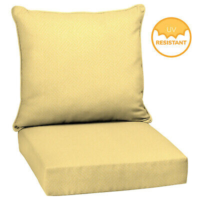- Outdoor Deep Seat Chair Patio Cushions Set Pad UV Resistant Porch Furniture