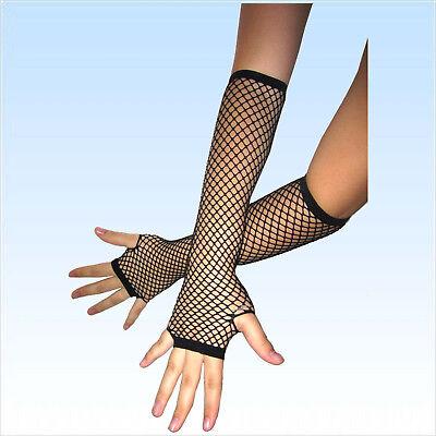 Fingerlose Netzhandschuhe schwarz  Abendgarderobe Netz Handschuhe Handschuh