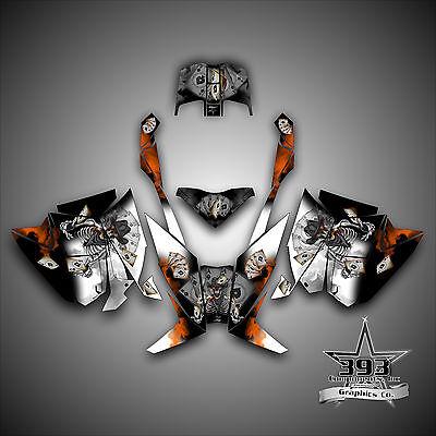 Arctic Cat ProClimb ProCross Graphics Kit Wrap Decal  2012-2017 Outlaw Orange
