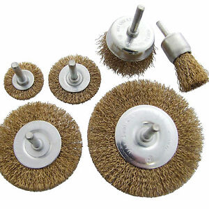 Wire Brush Set Rotary rust Removal Drill Cup Wheels Steel Wires 18b