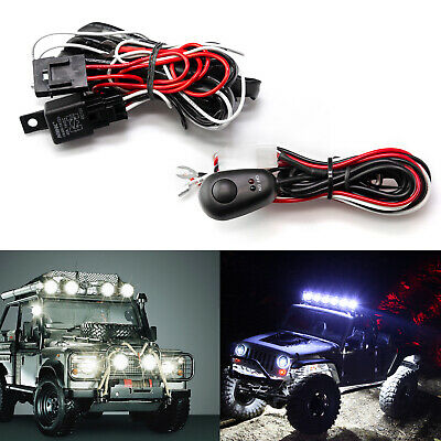 1 to 2 12V 40A LED Work Light Bar ON/ OFF Switch Relay Wiring Harness Cable SET