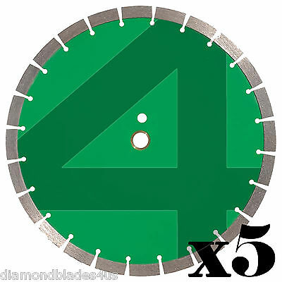 5 - 14 Diamond Saw Blade 4 Concrete Brick Block Stone Rock Masonry 15mm