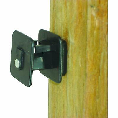 Field Guardian Wood Post Screw On Insulator Wire Black