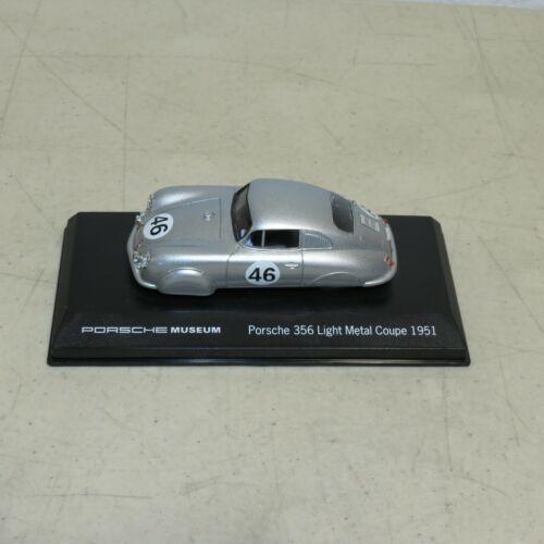 PORSCHE MUSEUM 356 LIGHT METAL COUPE 1951 1:43 SCALE MODEL CAR