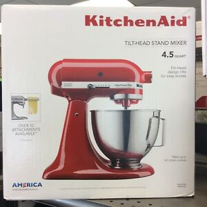 KitchenAid Ultra Power Stand Mixer - 4.5Qt - Empire Red - NEW
