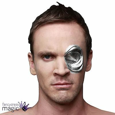 Terminator 2 T1000 Android Cyborg Robot Costume Latex Eye Mask Prosthetic Wound