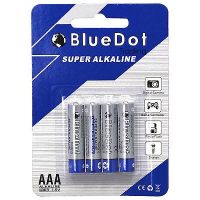 4-PACK AAA TRIPLE A HEAVY DUTY BATTERIES - BlueDot Alkaline 1.5V ~NEW FREE SHIP