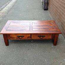Coffee table: Brittany mangowood timber in toffee stain Port Melbourne Port Phillip Preview