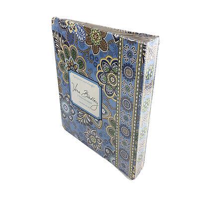 Vera Bradley 3-ring Binder Bali Blue Take Note Collection Floral