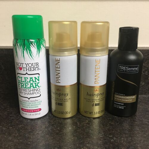 Lot of 4 Travel Size Hair Products Clean Freak Tresemme Pant