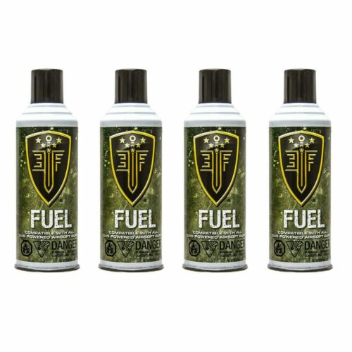 Elite Force Green Gas Cans with Silicone Oil for Airsoft Gun 8 oz Each 4 Bottles