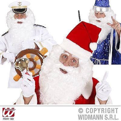 Weiße Charakter Perücke mit Vollbart für Weihnachtsmann Zauberer Kapitän 0565