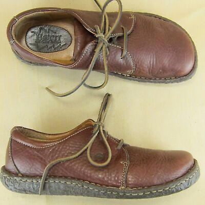 Born Oxford Casual Lo Chukka US 9 EU 40.5 Women Leather Brown Lo Oxford