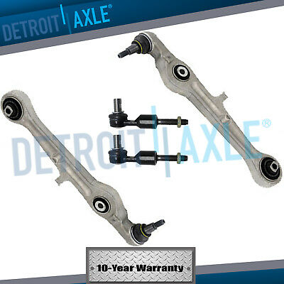 New 4pc (2) Front Lower Forward Control Arms + (2) Outer Tie Rods for Audi A4 S4