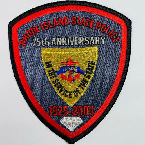 75th Anniversary 1925 2000 Rhode Island State Police RI Patch (A2)