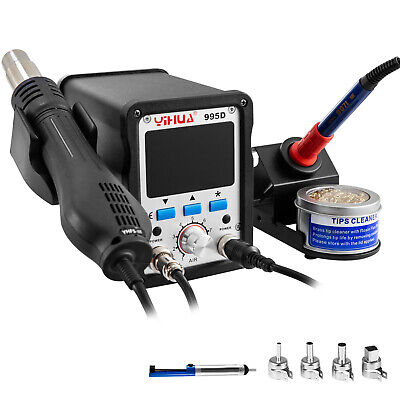 Yihua-995d Smd Soldering Iron Hot Air Gun Desoldering 2-in-1 Rework Station 720w