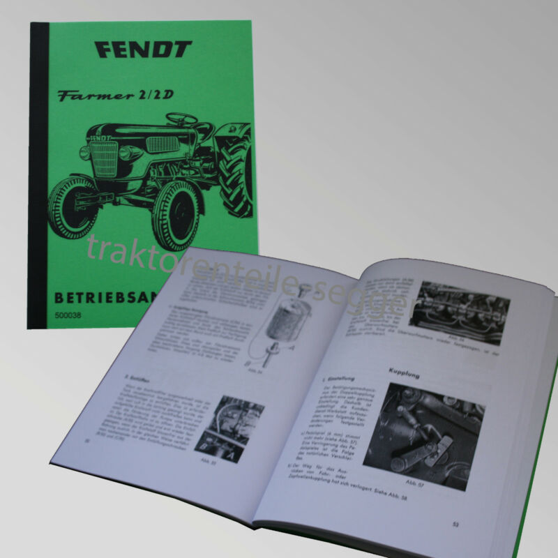 Fendt Betriebsanleitung  Farmer 2 / 2 D Traktor Schlepper 500038 Foto 1