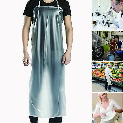 2pcs 47x28 Clear Waterproof Apron Pvc Unisex Cooking Restaurant Kitchen Chef