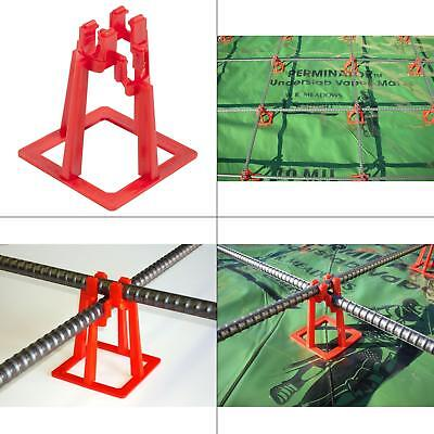 100 Pack 3-in. Rebar Chair Concrete Cement Placement Heavy Duty Footer Support