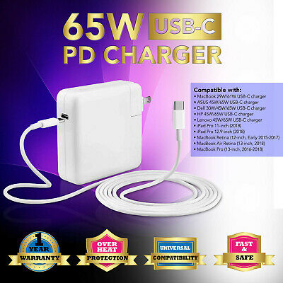 "61W Type C USB C AC Adapter Charger for MacBook Pro 13"" 2016"