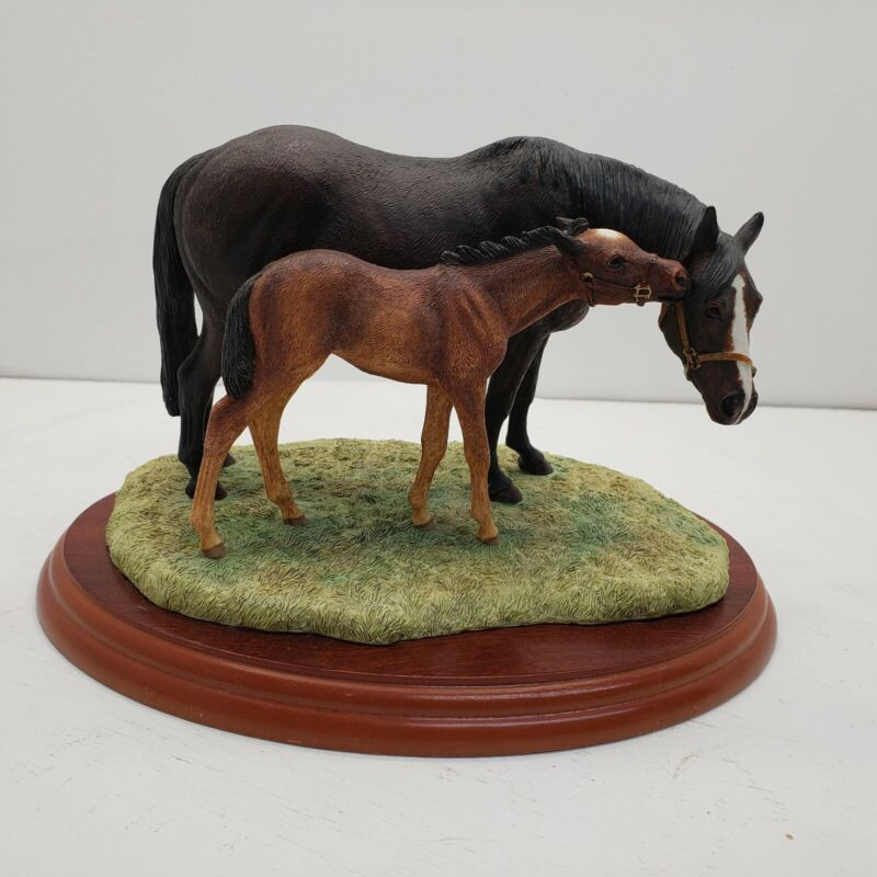 Anne Wall Horse Breeds Mare/Foal Figurine