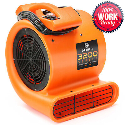 6 Air Mover Carpet Dryers 2 Speed 12 Hp Industrial Floor Blower Drying Fan