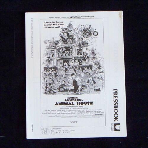 ANIMAL HOUSE / Original 1978 Press Book / JOHN BELUSHI / RARE