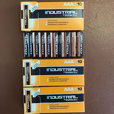 30 x Duracell AAA Industrial Procell Alkaline Batteries LR03 MN2400 Expiry 2023