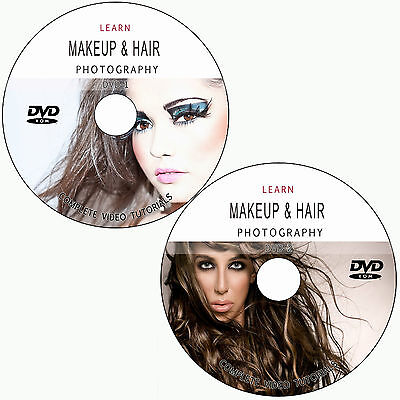 LEARN HOW TO DO MAKEUP & HAIR FOR DIGITAL PHOTOGRAPHY TRAINING TUTORIAL ON 2 DVD