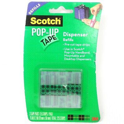 Scotch Pop-up Tape Dispenser Refills 34 X 2 75 Stripspad 3 Pads