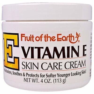 Fruit of the Earth Vitamin E Skin Care Cream Moisturizing 4 Ounce, 1