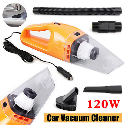 Portable 120W 12V Handheld Cyclonic Car Vacuum Cleaner Wet/Dry Duster Dirt HOT