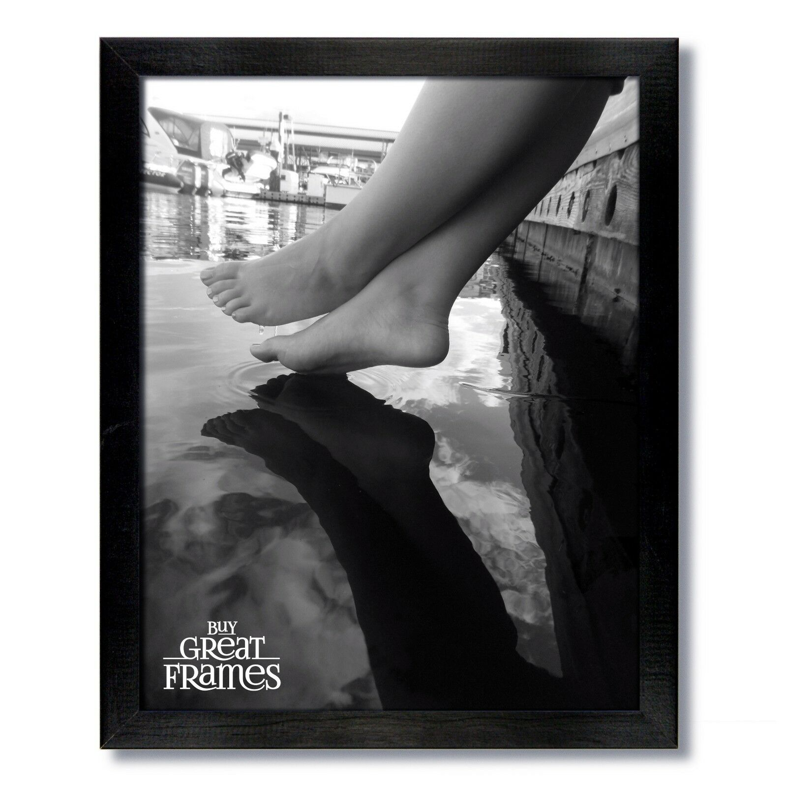 Gallery Black Wood Picture Frames and Clear Glass