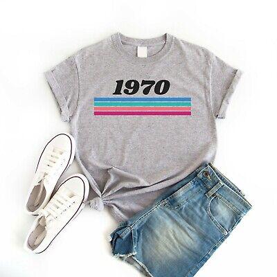 Born in 1970 Retro Vintage Style Women's T-Shirt Tee Top Birthday t-shirt (1970 Retro Fashion)