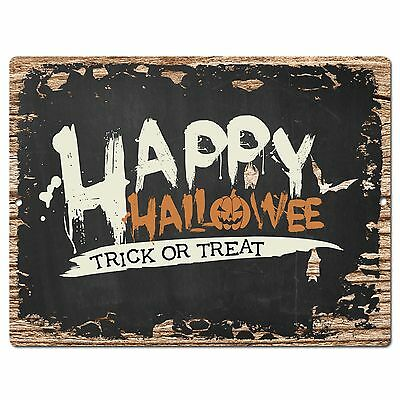 PP1896 HAPPY HALLOWEEN Plate Chic Sign Home Shop Halloween Decor Gift - Halloween Shop Decorations