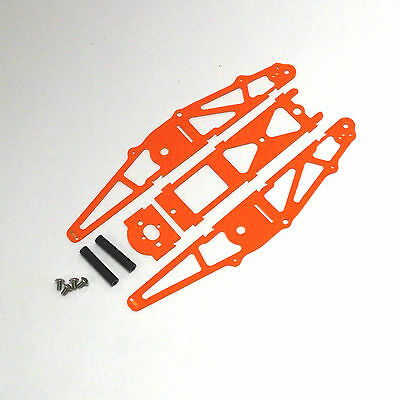 XTREME RACING ORANGE G10 1/24 MICO SLOT CAR DRAG CHASSIS XTR20042 INLINE BRACKET for sale  Fort Lawn