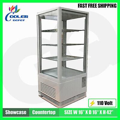 Display Case Refrigerator 17 Glass Pass-through Countertop Etl Nsf Cooler Depot