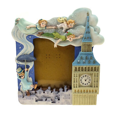 """Vintage Peter Pan 3D Resin Neverland Musical Picture Frame """"You Can Fly!"""" Disney"""