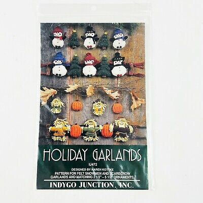 Indygo Junction Holiday Garlands Felt Ornaments Halloween Christmas PATTERN ONLY