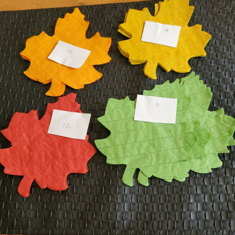 Lot 48 Vintage  Thanksgiving Fall  Decorations Tissue Leaves