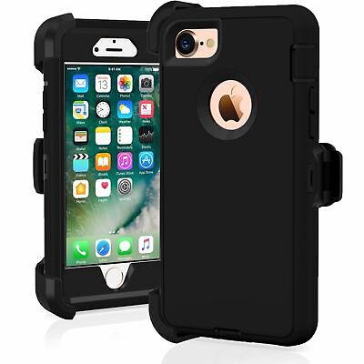 iPhone 6 Plus iPhone 6s Plus Heavy Duty Case w/Holster Belt Clip Stand & Screen