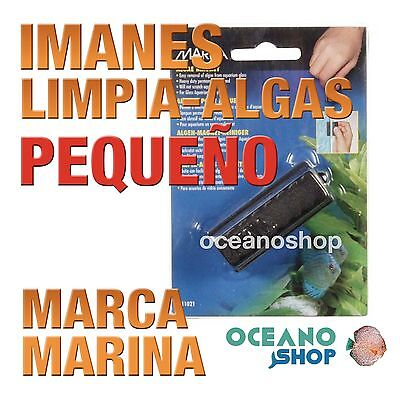 IMANES LIMPIA CRISTALES MARINA - PEQUEÃ'O limpia cristal acuario pecera gambario