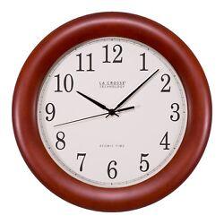 WT-3122A La Crosse Technology 12.5 Atomic Analog Wall Clock