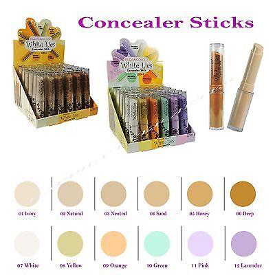 Kleancolor Stick Concealers - Blemish Cover Up, Brightening, Neutralizing Tones