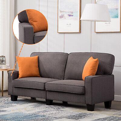 Wohnzimmer Moderne Schlafsofa (2 Sitzer Polstersofa Couch Schlafsofa Sessel Stoffsofa Wohnzimmer dunkelgrau)