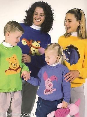 Disney pooh pals knit sweaters eeyore tigger piglet