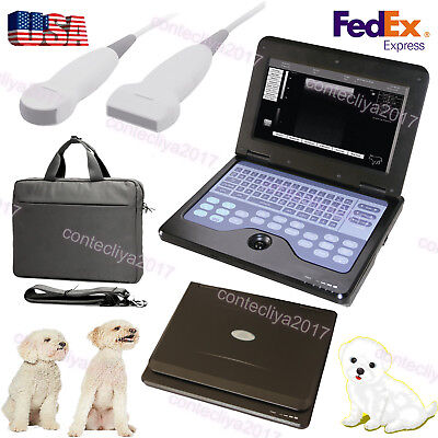 Veterinary Laptop Ultrasound Scanner Machine Vet Micro Convexlinear Probeus