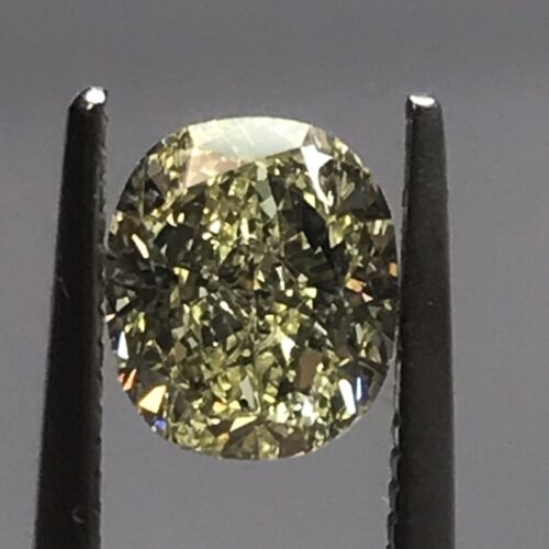 Fancy Yellow Diamond GIA Certified ~  %75 OFF NOW ~ 1.04 carat Cushion Cut
