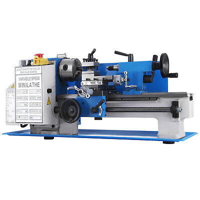 550W Precision Mini Metal Lathe Metalworking Bench Top Varia